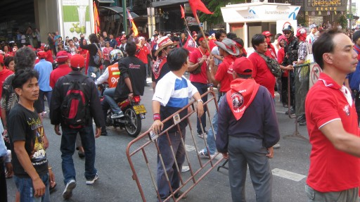 Redshirts in Bangkok at Nana BTS Station